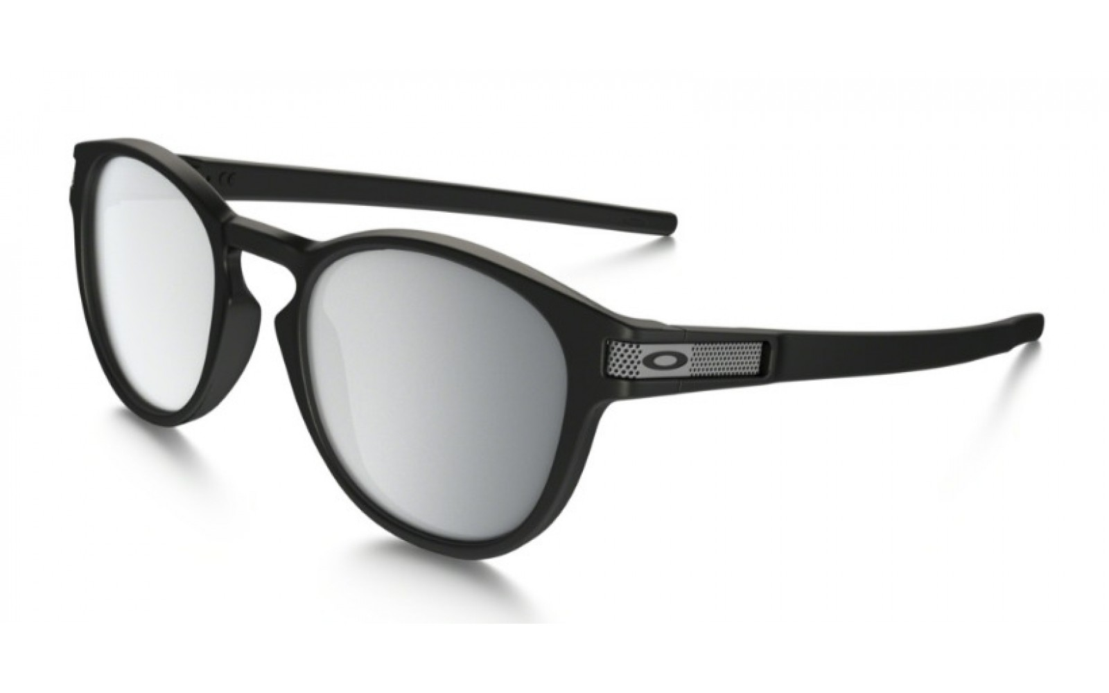 Oakley Latch Machinist Collection - Matte Black / Chrome Iridium - OO9265-10 Zonnebril