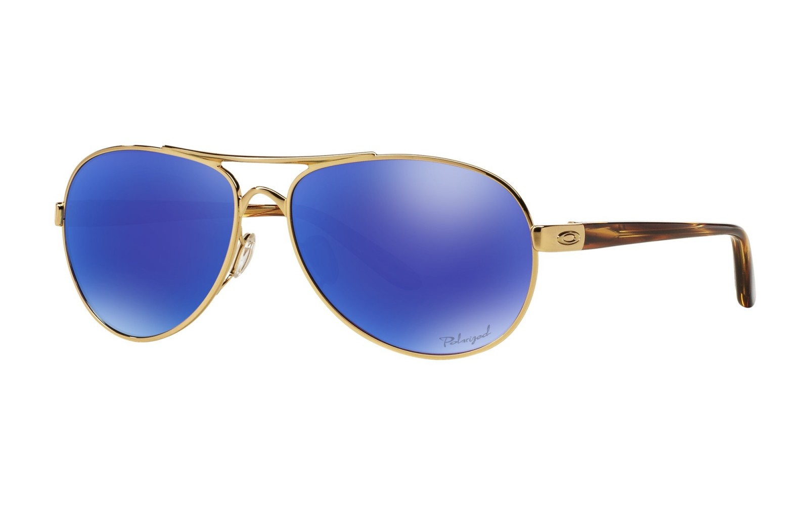 Oakley Tie Breaker Pop Polar Collection - Polished Gold / Violet Iridium Polarized - OO4108-14 Zonnebril