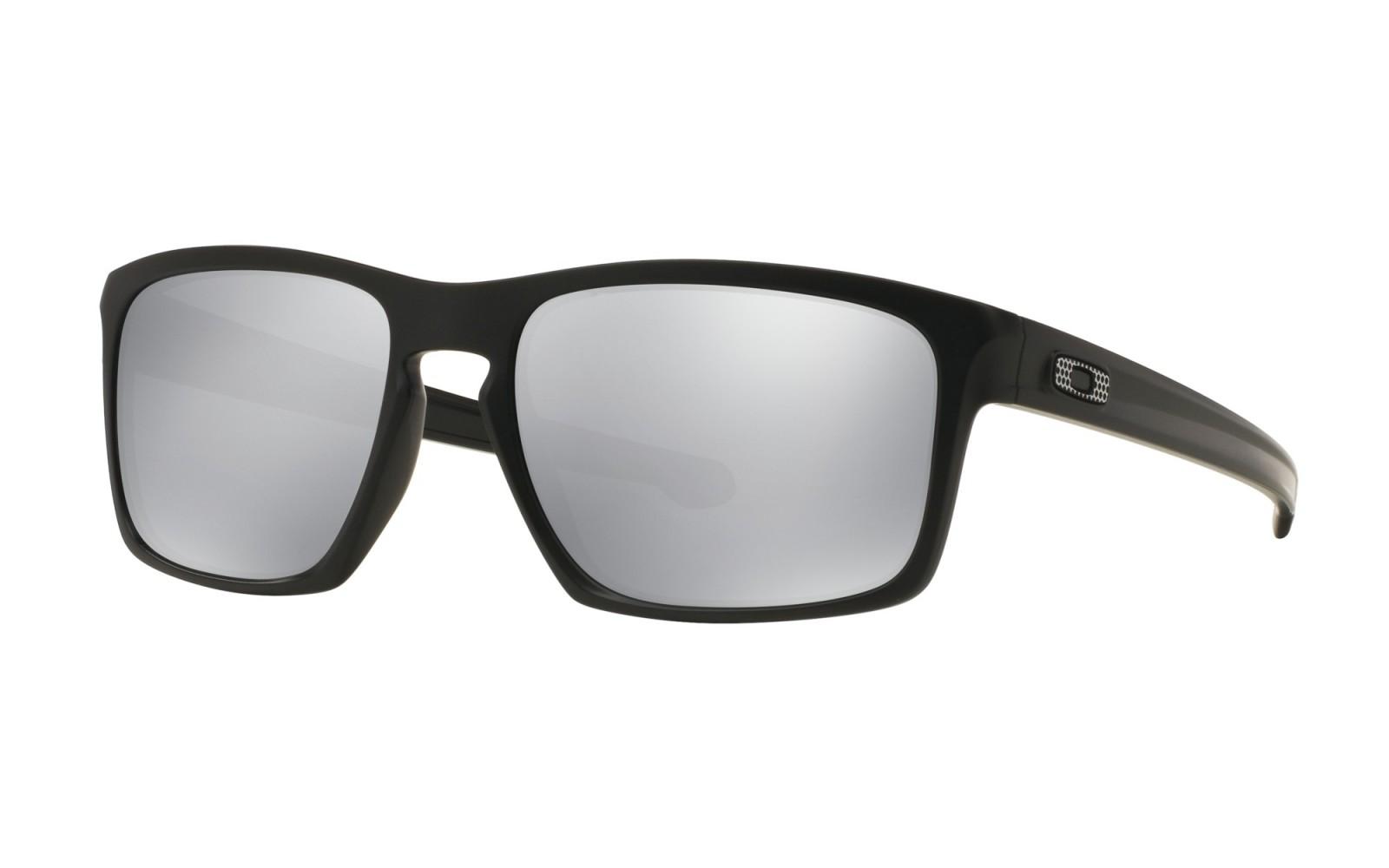 Oakley Sliver Machinist Collection - Matte Black / Chrome Iridium - OO9262-26 Zonnebril