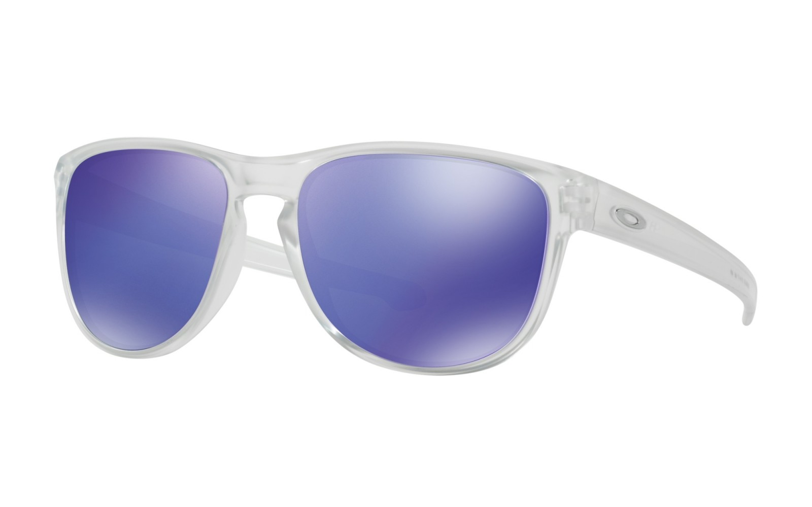 Oakley Sliver Round - Matte Clear / Violet Iridium - OO9342-02 Zonnebril