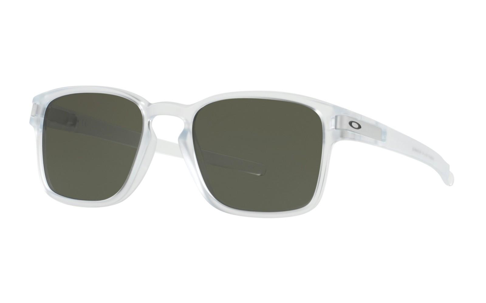 Oakley Latch Sq - Matte Clear / Dark Grey - OO9353-07 Zonnebril