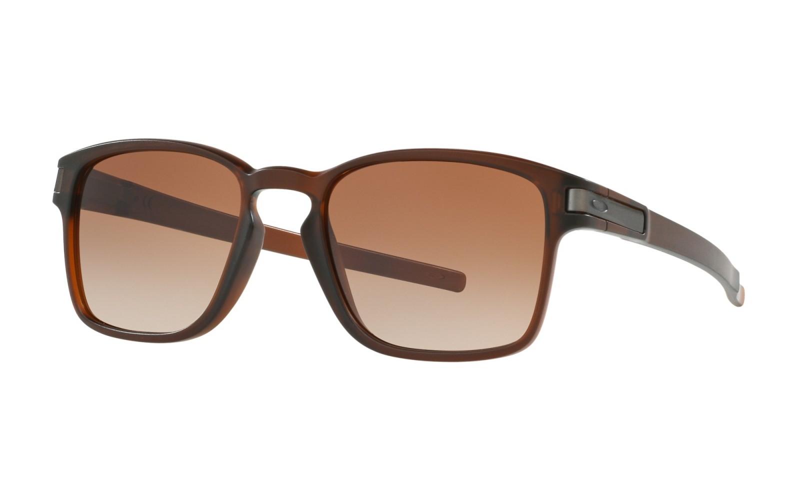 Oakley Latch Sq - Matte Dark Brown / Dark Brown Gradient - OO9353-09 Zonnebril