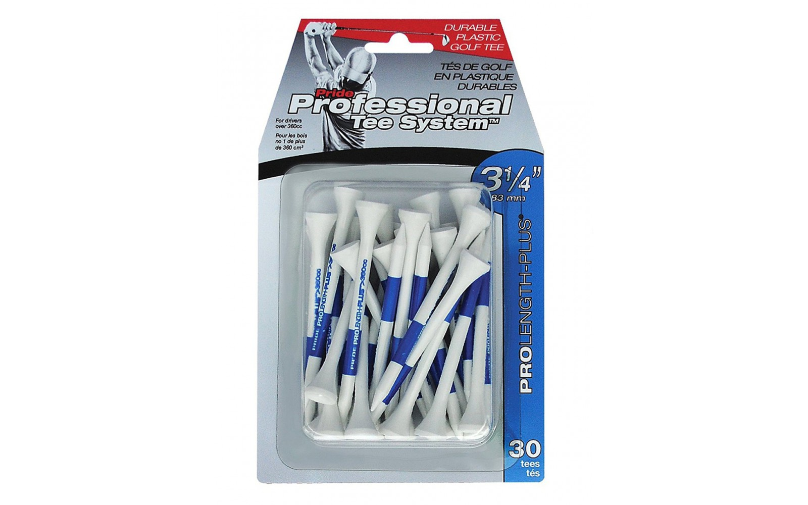 Pride Professional Tee System Tee - Blauw Blister - 30 Tees