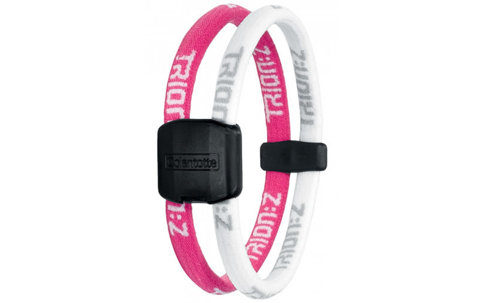 Trion:Z Magneet Armband, Kleur : Roze/Wit, Maat : Small