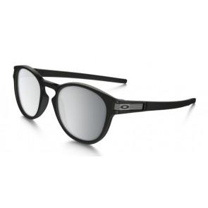 Oakley Latch Machinist Collection - Matte Black / Chrome Iridium - OO9265-10 Zonnebril
