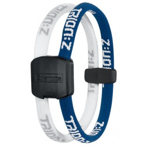 Trion:Z Magneet Armband, Kleur : Blauw/Wit, Maat : Large