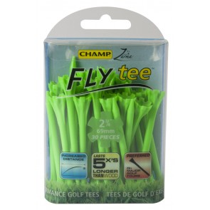 Champ Fly Tees-Neon Groen-69mm