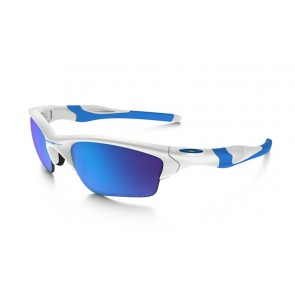 Oakley Half Jacket 2.0 XL Fingerprint Collection - Polished White / Sapphire Iridium Polarized - OO9154-54 Zonnebril
