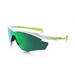 OOakley M2 Frame Fingerprint Collection - Polished White / Jade Iridium Polarized - OO9212-19 Zonnebril