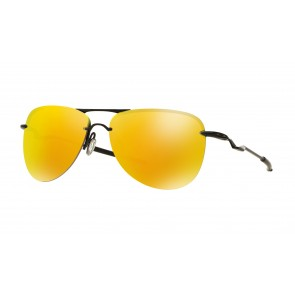 Oakley Tailpin - Satin Black / Fire Iridium - OO4086-11 Zonnebril