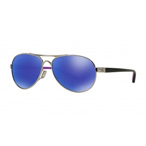 Oakley Tie Breaker Violet Haze Collection - Polished Chrome / Violet Iridium Polarized - OO4108-10 Zonnebril