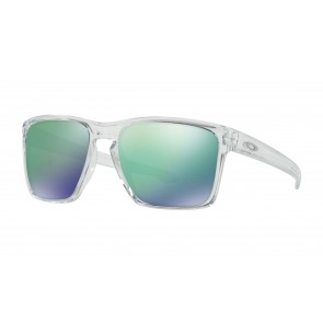 Oakley Sliver XL - Polished Clear / Jade Iridium - OO9341-02 Zonnebril