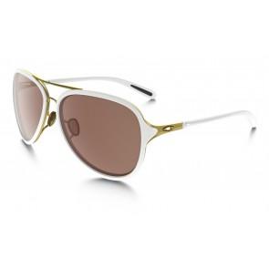 Oakley Kickback - Satin Gold-White / VR28 Black Iridium - OO4102-06 Zonnebril