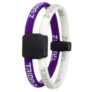 Trion:Z Magneet Armband, Kleur : Paars/Wit, Maat : Large