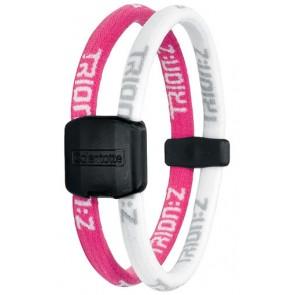 Trion:Z Magneet Armband, Kleur : Roze/Wit, Maat : Large