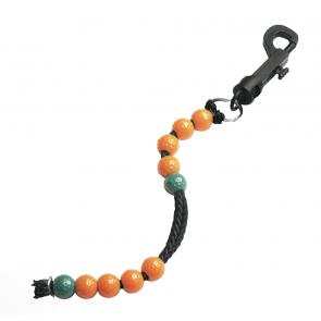 Slagenteller koord met kralen - Groen/Oranje