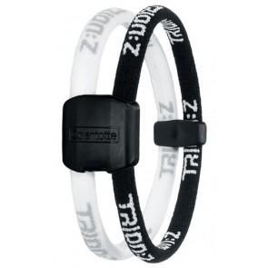 Trion:Z Magneet Armband, Kleur : Zwart/Wit, Maat : Small